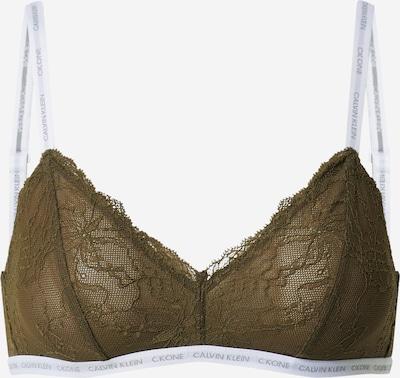 Calvin Klein Underwear Soutien-gorge 'Unlined Triangle' en vert / blanc, Vue avec produit