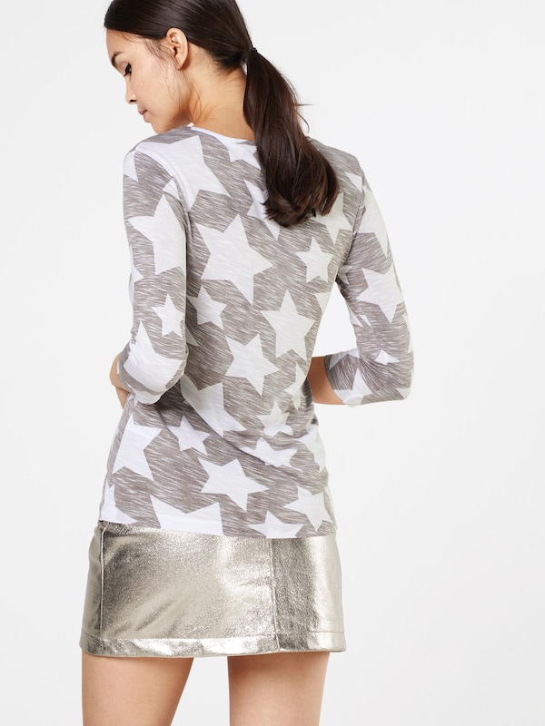 Key Largo Langarmshirt mit Paillettenbesatz