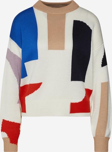 EDITED Pullover 'Tilly' in beige / blau / rot, Produktansicht