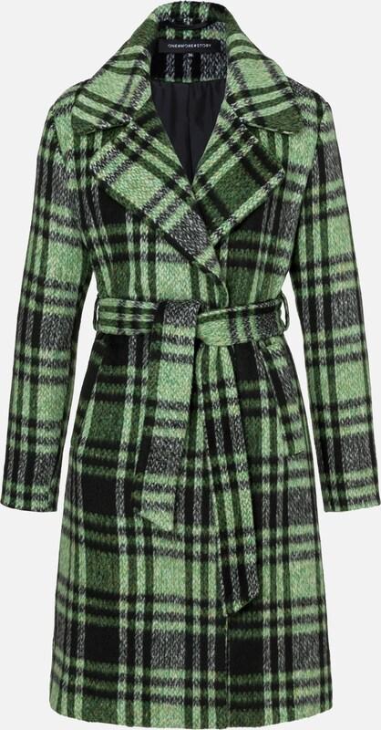 ONE MORE STORY Mantel in grün   apfel   schwarz  Mode neue Kleidung