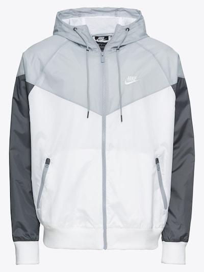 Nike Sportswear Prehodna jakna | siva / temno siva / bela barva, Prikaz izdelka