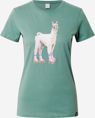 Iriedaily T-Shirt 'Rolama' in mint / mischfarben, Produktansicht