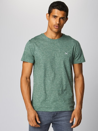 Iriedaily T-Shirt 'Chamisso' in dunkelgrün: Frontalansicht