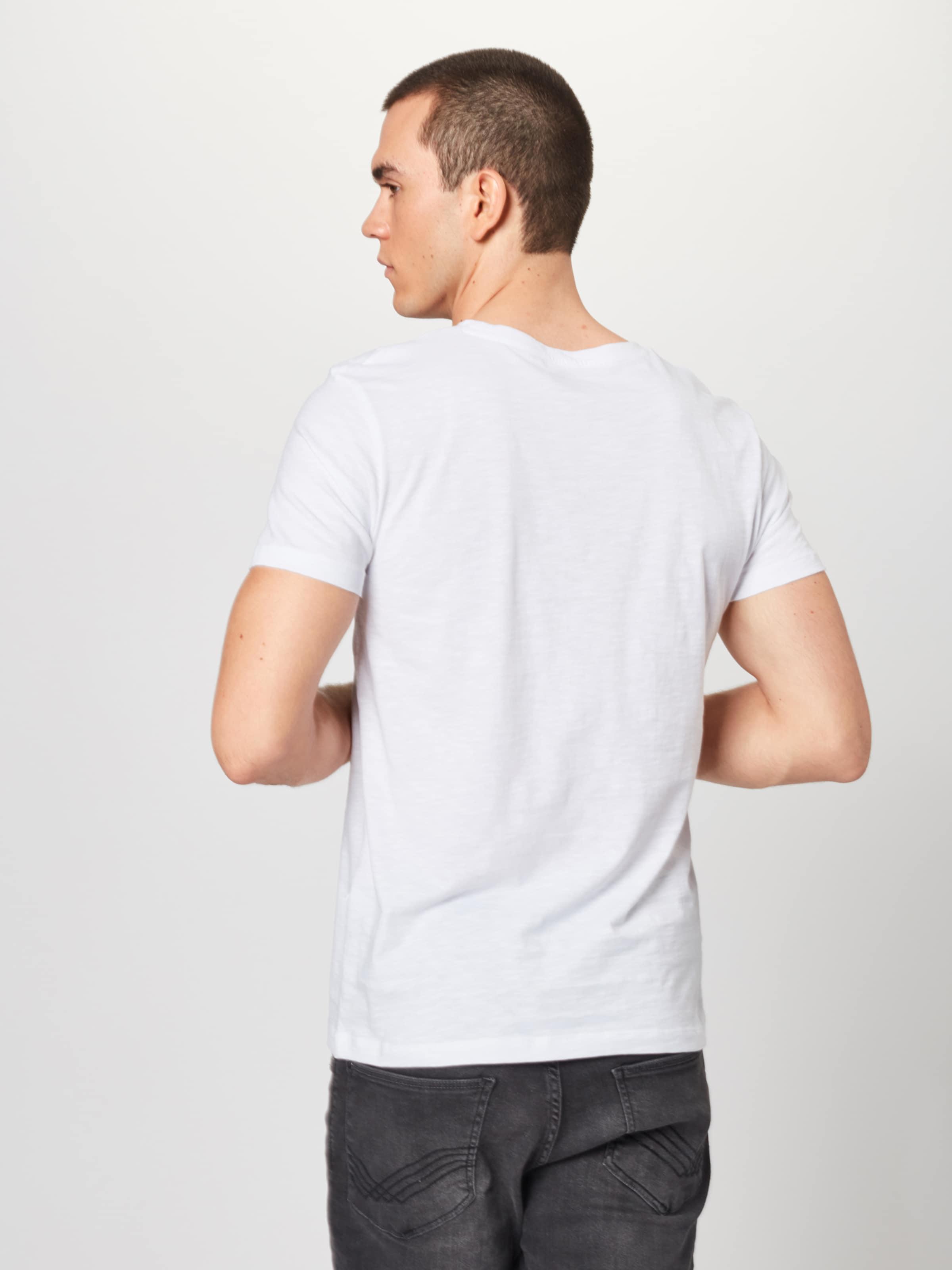 T Denim shirt Mélange Tom En De Tailor CouleursBlanc VpzMLSqUG