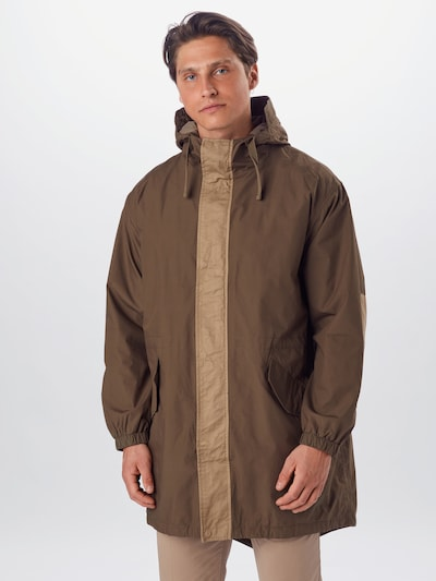 BURTON MENSWEAR LONDON Kevad-sügismantel 'PANEL' khaki, Modellivaade