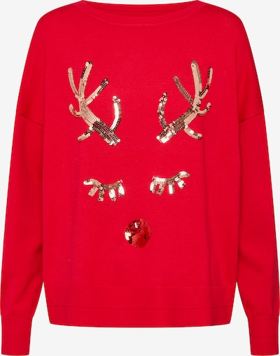ONLY Pullover 'onlXDEER L/S PULLOVER KNT' in rot, Produktansicht