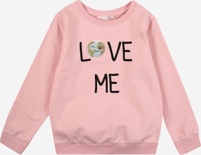 NAME IT Sweatshirt 'La Planet' in rosa / schwarz, Produktansicht
