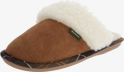 Barbour Slipper 'Barbour Lydia Mule' in camel / weiß, Produktansicht