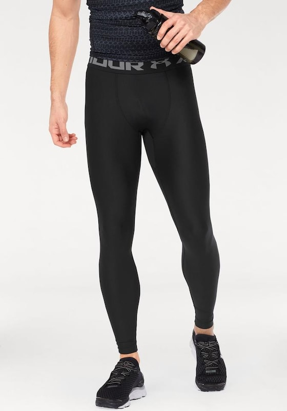UNDER ARMOUR Tights in graphit / schwarz: Frontalansicht