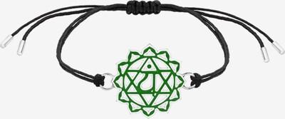 Nenalina Armband 'Chakra' in grün / schwarz, Produktansicht