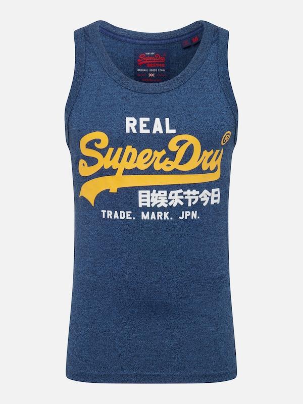 04e937153c Superdry Póló tengerészkék / sárga színben | ABOUT YOU