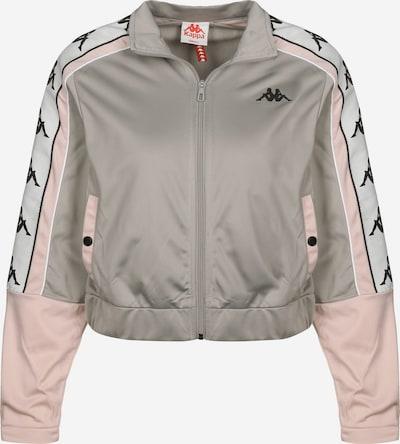 KAPPA Jacke 'Banda Antey' in grau / rosa, Produktansicht