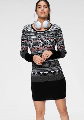 KangaROOS Knitted dress in Black