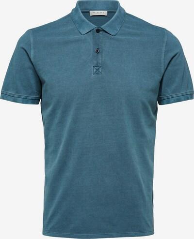 SELECTED HOMME Baumwollpikee Poloshirt in blau, Produktansicht