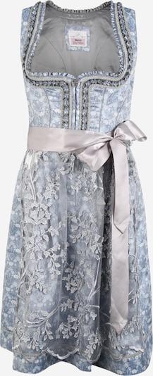 MARJO Dirndl 'Zaria' en bleu clair / gris argenté / blanc, Vue avec produit