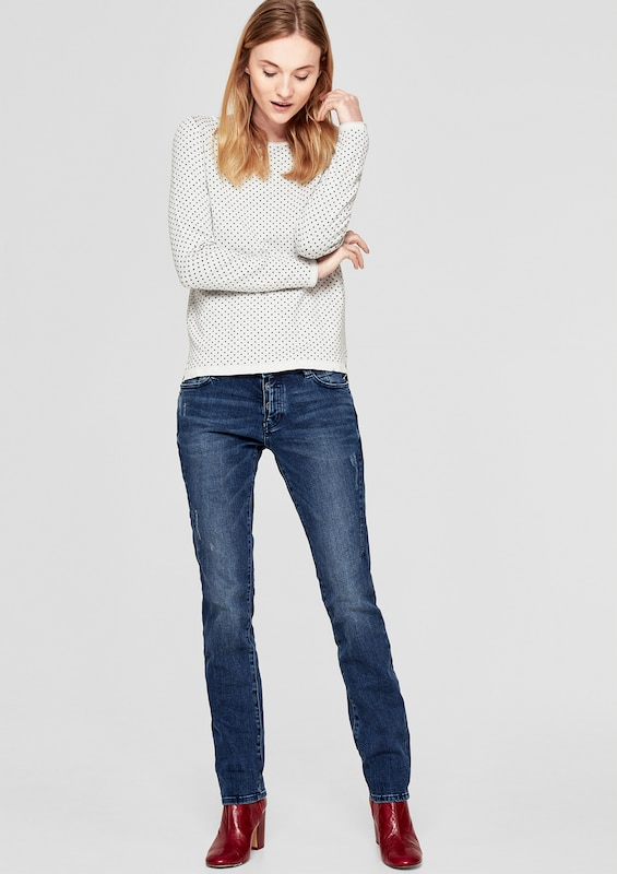 S.oliver Red Label Shape Slim: Jeans With Stitched Effect