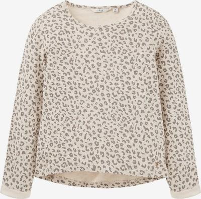 TOM TAILOR Sweatshirt in beige / dunkelbeige, Produktansicht
