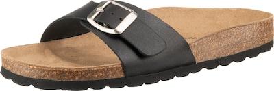 JOLANA & FENENA Komfort-Pantoletten in braun / schwarz, Produktansicht