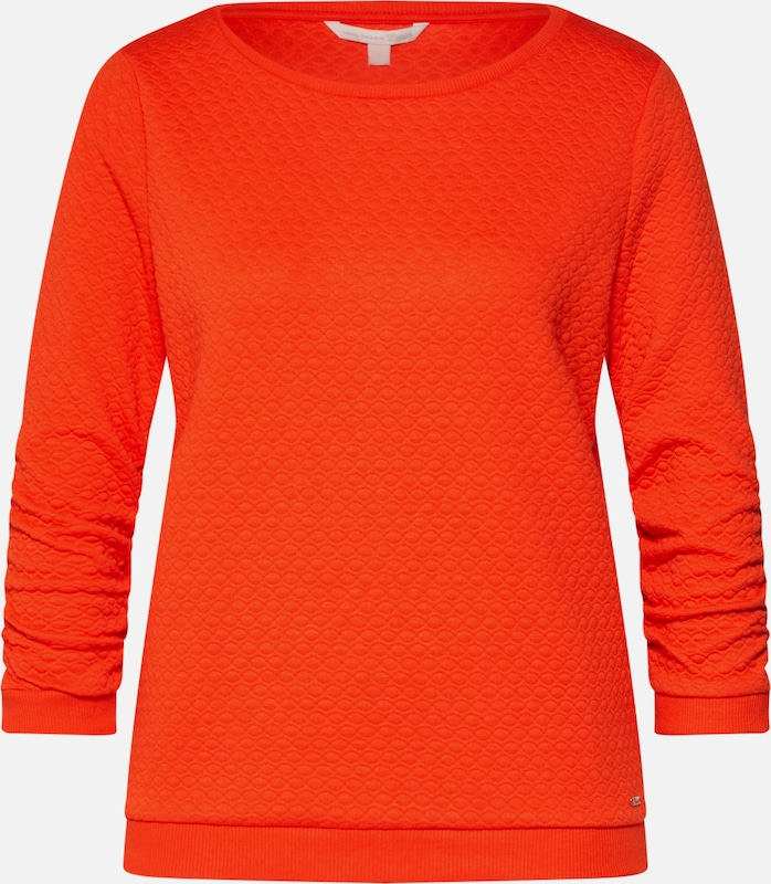 TOM TAILOR DENIM Sweatshirt in hellorange, Produktansicht