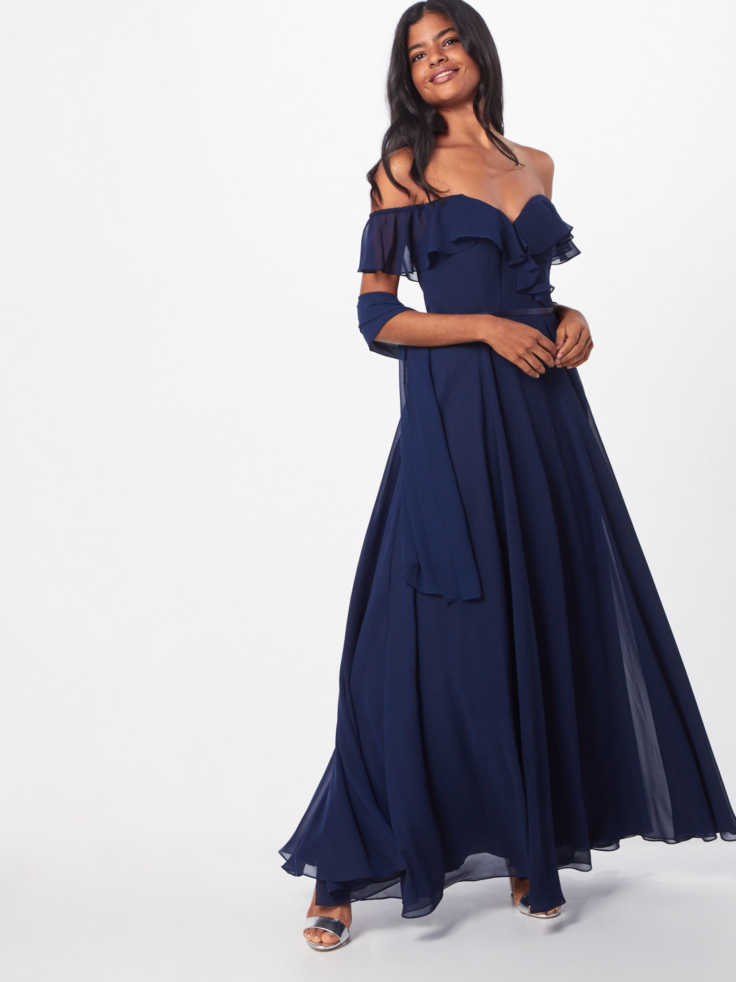 In Mascara 'frilled' Mascara Kleid Navy 'frilled' Kleid In n80mNw