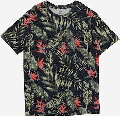 Jack & Jones Junior Shirt 'RELI' in navy / grasgrün / koralle / rot, Produktansicht