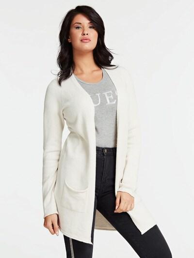 GUESS Cardigan in weiß, Modelansicht