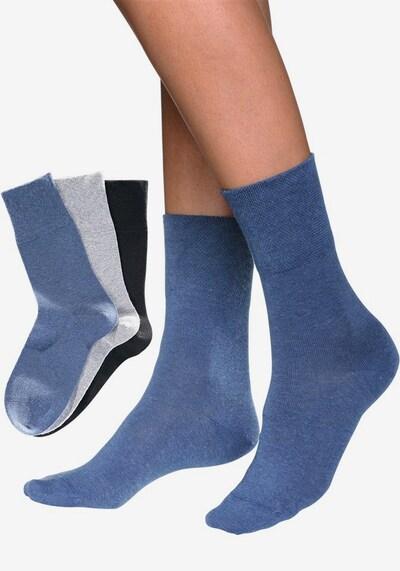 GO IN Socken 'Rogo' in taubenblau / grau / schwarz, Modelansicht
