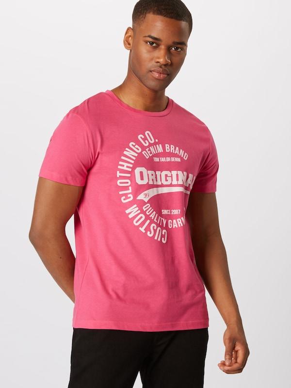 T En Tom Tailor shirt Denim Rose 3L54jqAR