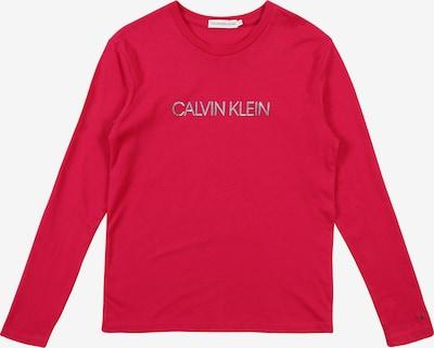 Calvin Klein Jeans T-Shirt 'LOGO FOIL PRINT LS T' en rose, Vue avec produit
