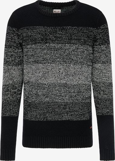MUSTANG Sweater 'Emil C' in grau / schwarz, Produktansicht