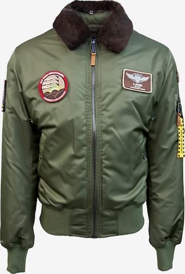TOP GUN Pilotenjacke 'Fly' in oliv: Frontalansicht