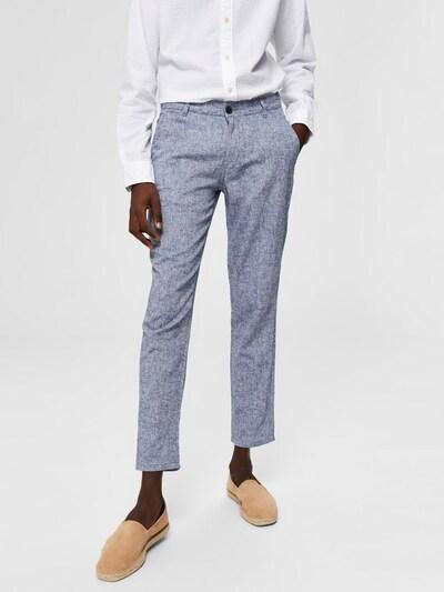 SELECTED HOMME Leinen Hose in blau, Modelansicht