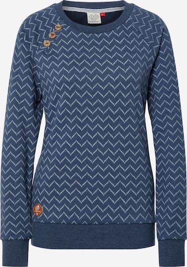 Ragwear Sweatshirt 'DARIA ZIG ZAG' in de kleur Blauw denim / Offwhite, Productweergave