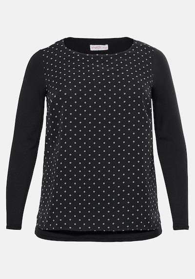 SHEEGO Shirt in schwarz / weiß, Produktansicht