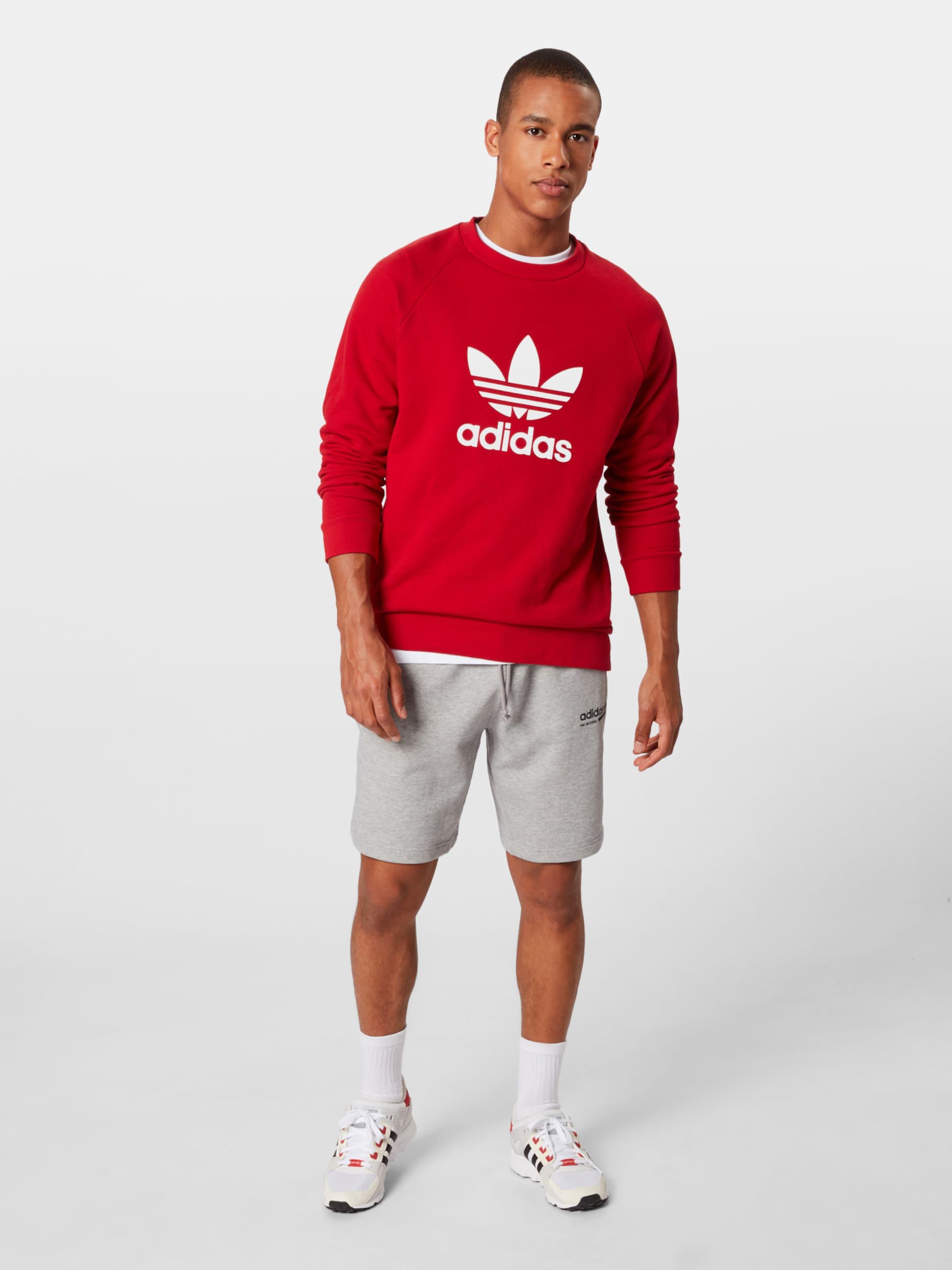 Crew Originals 'trefoil Adidas Sweatshirt In RotWeiß ' ARLq354j