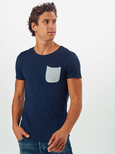 TOM TAILOR DENIM T-Shirt en bleu: Vue de face