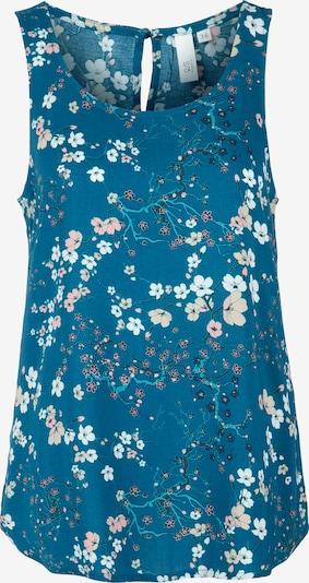 Q/S designed by Blouse in de kleur Blauw / Gemengde kleuren, Productweergave