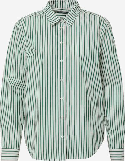 Marc O'Polo Bluse in grün / weiß: Frontalansicht