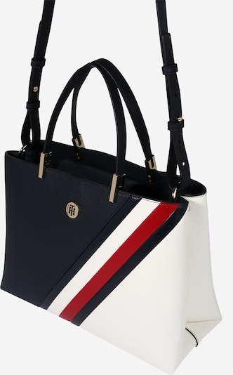 TOMMY HILFIGER Shopper 'Core Satchel Corporate' in de kleur Navy / Rood / Wit, Productweergave