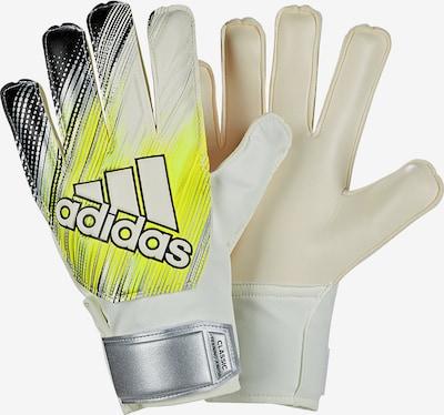 ADIDAS PERFORMANCE Torwarthandschuhe 'CLASSIC' in gelb / schwarz / weiß, Produktansicht