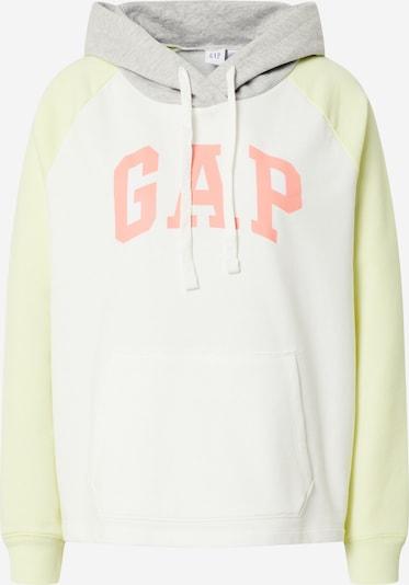 GAP Sweatshirt in de kleur Lichtgeel / Grijs / Zalm roze / Wit, Productweergave