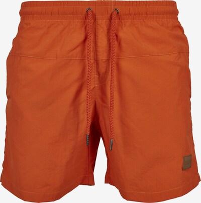 Urban Classics Badeshorts 'Block Swim Shorts' in dunkelorange: Frontalansicht