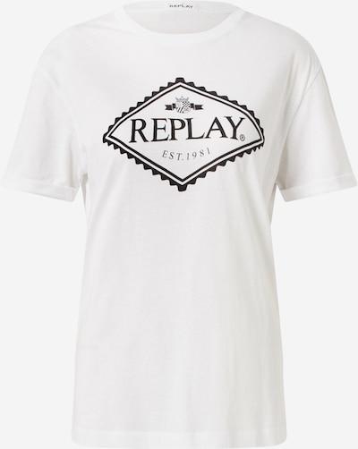 REPLAY T-shirt en noir / blanc: Vue de face