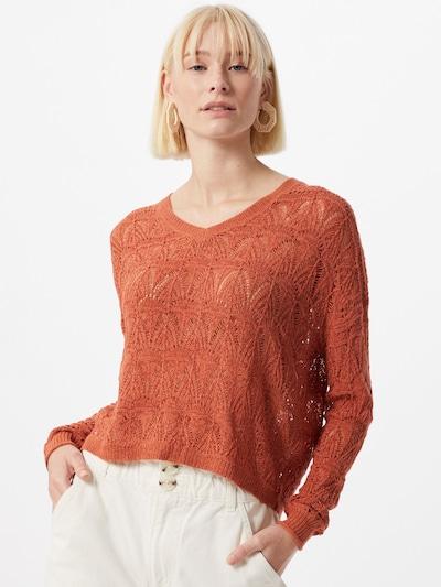 JACQUELINE de YONG Pullover 'Kunis' in orangerot: Frontalansicht