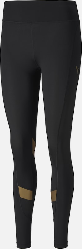 PUMA Tights 'Metall Splash Eclipse' in gold / schwarz, Produktansicht