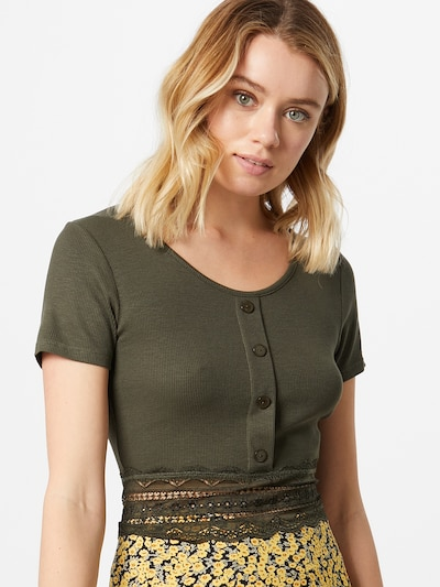 ABOUT YOU Shirt 'Carin' in khaki: Frontalansicht