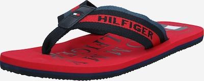 TOMMY HILFIGER Séparateur d'orteils 'HILFIGER MARITIME BEACH SANDAL' en bleu marine / rouge, Vue avec produit