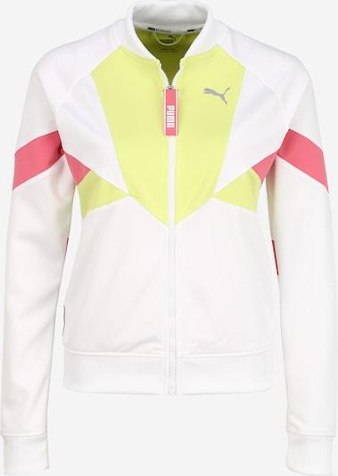 PUMA Sportjas in de kleur Lichtgroen / Lichtrood / Wit, Productweergave