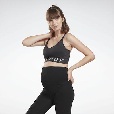 REEBOK Sport-Bra in schwarz / weiß: Frontalansicht