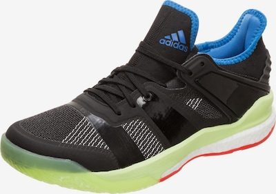 ADIDAS PERFORMANCE Sportschuh 'Stabil X' in blau / limette / schwarz, Produktansicht